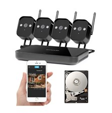 Kamera set ZMODO 720P WiFi MINI NVR + 4x IP CAM + 1TB HDD digitální
