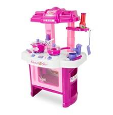 Kuchyňka dětská G21 s příslušenstvím růžová