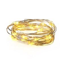 Řetěz vánoční 30 LED, 3m, 3xAA, bílá teplá