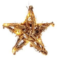 Vánoční dekorace Ratanová hvězda RXL 155, teplá bílá, 2 x AA