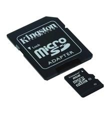 Karta paměťová KINGSTON Micro SDHC 8GB Class 10 + adaptér