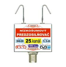 Anténní zesilovač DVB-T 25K 5V 30dB  F