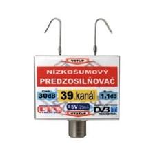 Anténní zesilovač DVB-T 39K 5V 30dB  F