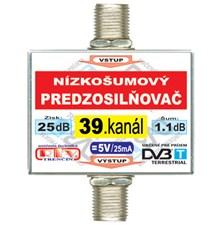 Anténní zesilovač DVB-T 39K 5V 25dB  F-F